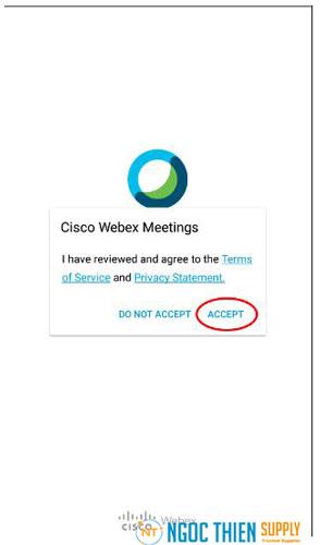 Đăng ký tài khoản Webex Meetings trên điện thoại
