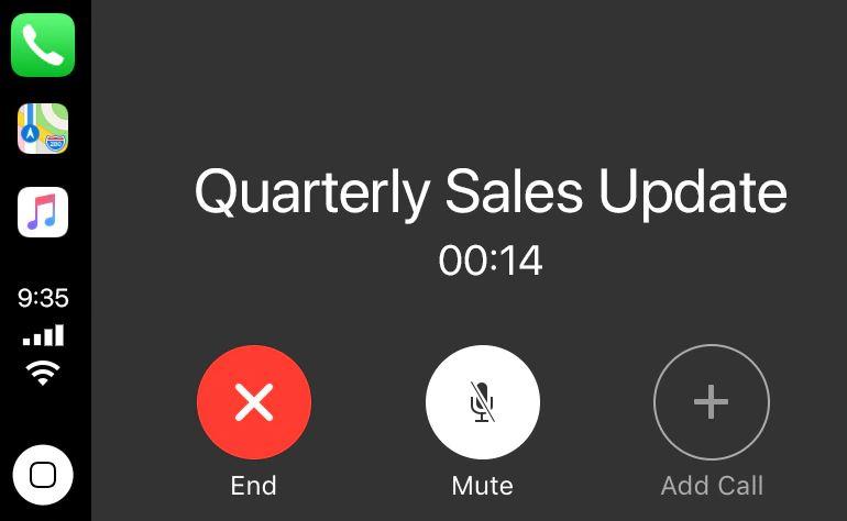 Tham gia cuộc gọi và cuộc họp bằng Apple CarPlay