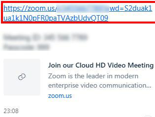 Nhấp vào liên kết mời tham gia buổi lễ khai giảng trên Zoom