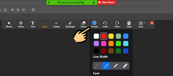 Xuất hiện menu các công cụ để bạn dùng như sau