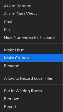 Make Co-Host.