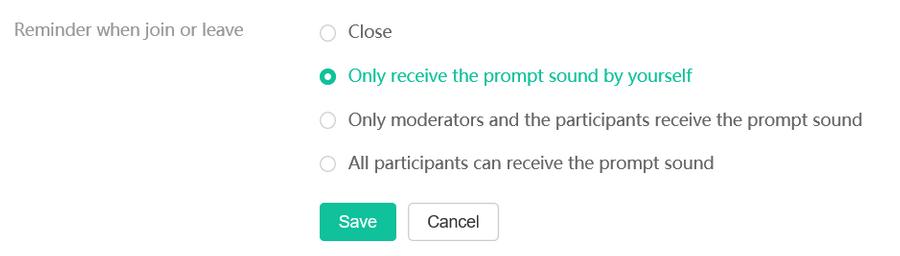Bấm  Cài đặt Cuộc họp .  Trong tab  Cài đặt cơ bản , hãy đặt và lưu các thông số.