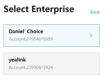 Cho phép chọn doanh nghiệp khi đăng nhập