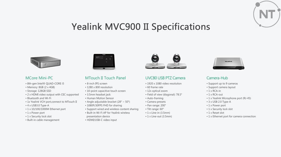 Thông số & Chi tiếtYealink MVC900 II