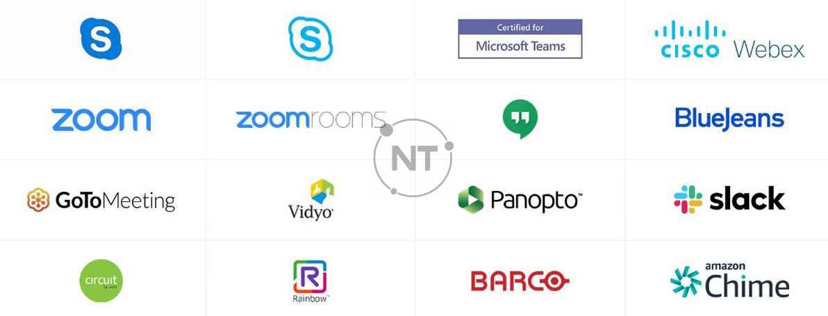 Jabra PanaCast hoạt động với tất cả các giải pháp hội nghị truyền hình và âm thanh hàng đầu và được chứng nhận để sử dụng với Microsoft Teams & Zoom . Hãy tự tin rằng nhóm của bạn có thể kết nối, dù họ đang sử dụng thiết bị nào.