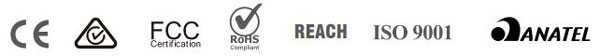 Yealink UVC40 tuân thủ chứng chỉ Ce, FCC, Reach,...