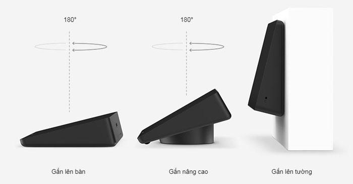 Các lỗ cáp tiêu chuẩn nâng và gắn lên bàn 180 độ giúp nhìn rõ ràng và thuận tiện. Giá gắn trên tường giúp tiết kiệm không gian trong các phòng nhỏ.