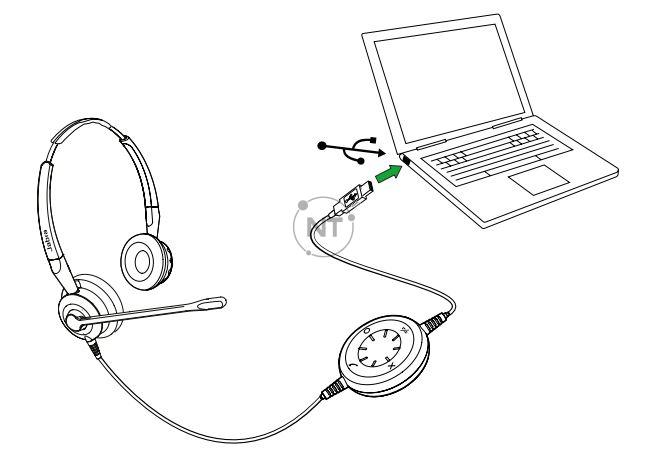 Các kiểu máy duo hoặc mono có kết nối USB chỉ cần cắm vào cổng USB trên PC của bạn