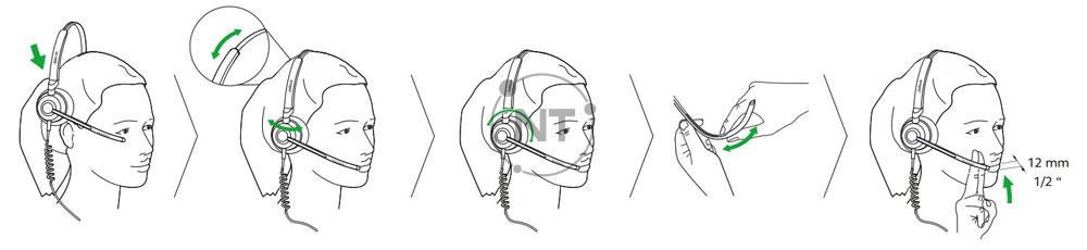 cách đeo tai nghe cách đeo tai nghe Jabra Engage 50