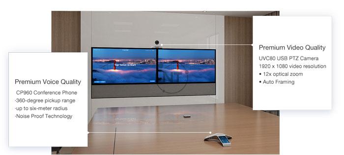 Yealink ZVC800 Zoom Rooms Kit – Giải pháp cho các phòng họp vừa và lớn