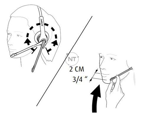 Jabra Biz 1500 có tay đòn 270 ° để có thể dễ dàng điều chỉnh mà không bị gãy
