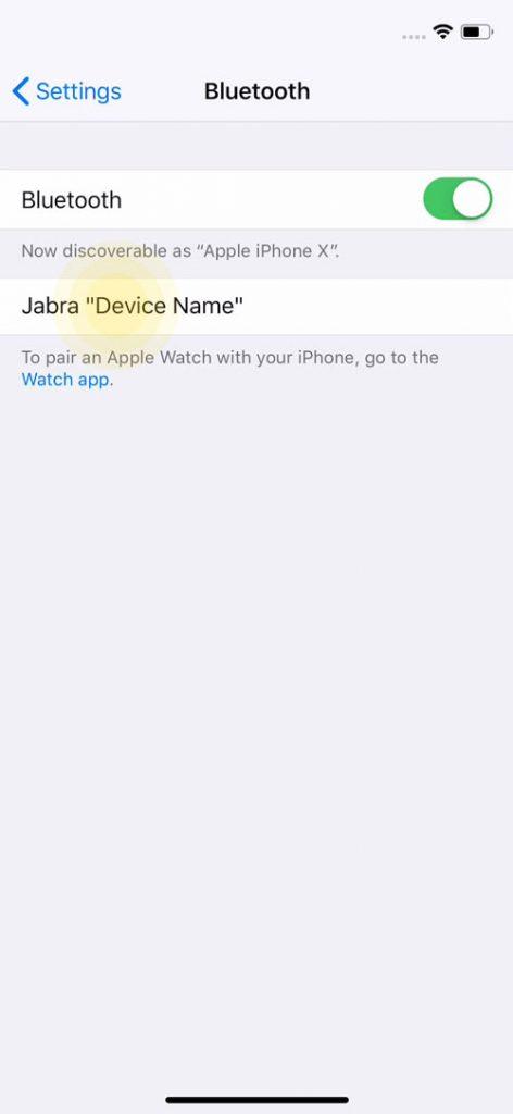 Khi Jabra Speak 710 xuất hiện trên màn hình, hãy nhấn vào Jabra Speak 710 để bắt đầu ghép nối.