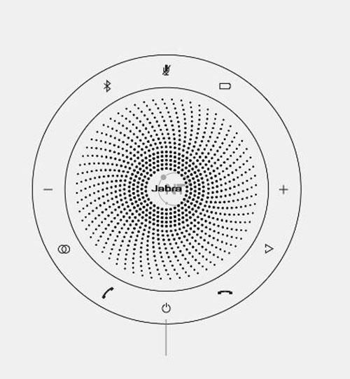 Bắt đầu với Jabra Speak 710 của bạn được bật. Để bật Jabra Speak 710, hãy nhấn và giữ (1 giây) nút  Power