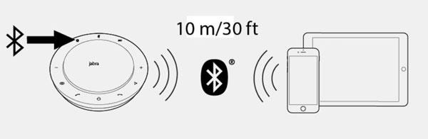 Nhấn và giữ (2 giây) nút Bluetooth và Jabra Speak 710 thông báo chế độ ghép nối.