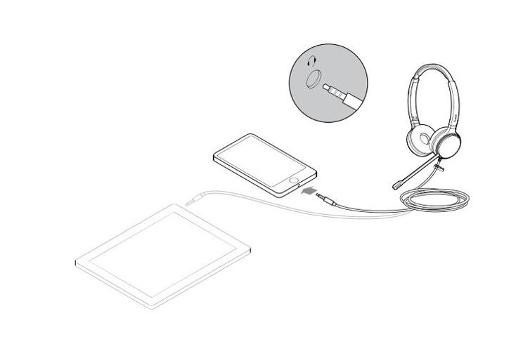 Kết nối với điện thoại thông minh hoặc máy tính bảng (không có YHC20)