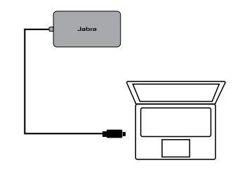 Kết nối máy tính của bạn với Jabra PanaCast Hub dùng cáp USB-C 1 m/3 ft tích hợp.