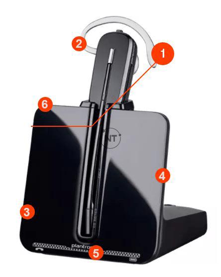 Plantronics C5540 headset features