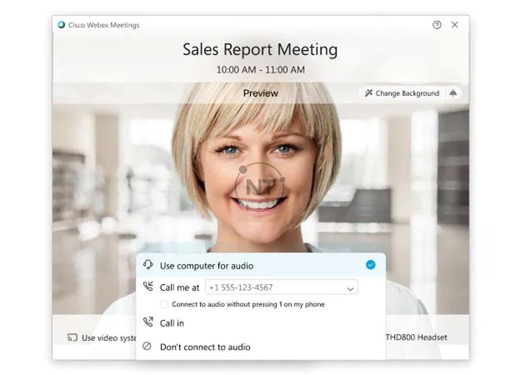 Chọn cách bạn muốn nghe âm thanh trong cuộc họp với cisco webex meetings