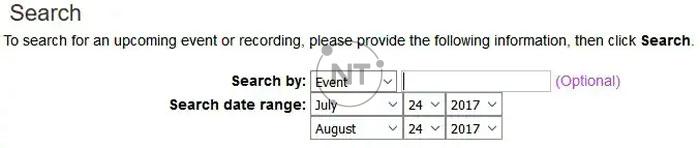 Cách đăng ký 1 sự kiện trên Cisco Webex