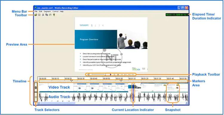 Cách chỉnh sử bản ghi bằng ứng dụng Recording Editor của Cisco Webex
