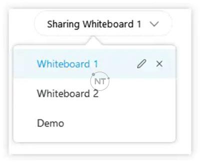 Chọn bảng trắng hoặc tài liệu bạn muốn lưu từ danh sách annonate