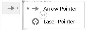 Nếu bạn đang sử dụng Windows, hãy nhấp vào mũi tên để chọn con trỏ laser.