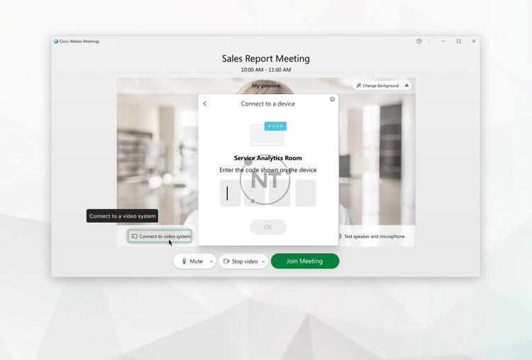 Hướng dẫn cách kết nối với hệ thống video trên Webex Meetings Desktop App (dành cho các phiên bản mới)