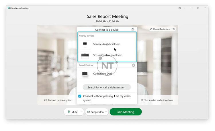 cách kết nối với hệ thống video trên Webex Meetings Desktop App (dành cho các phiên bản mới)