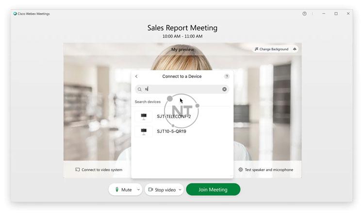 kết nối với hệ thống video trên Webex Meetings Desktop App (dành cho các phiên bản mới)
