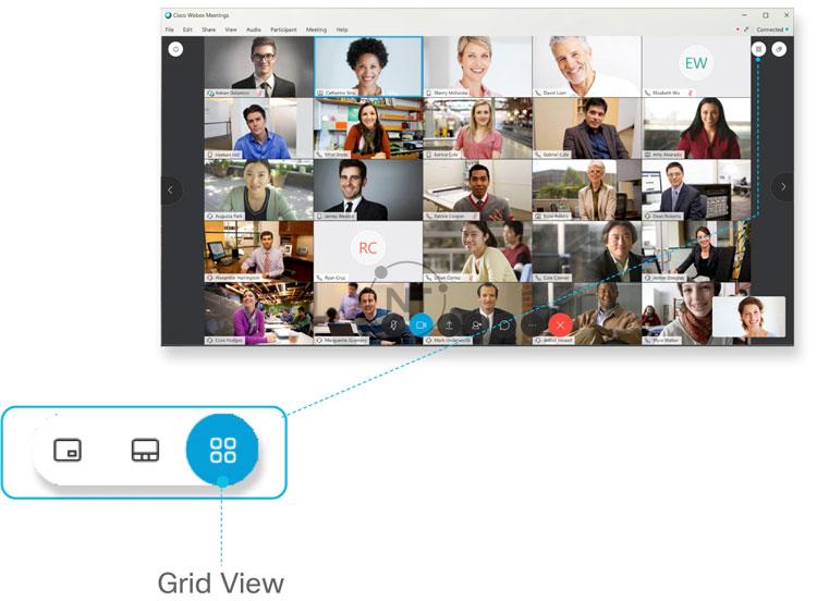 Chế độ hiển thị theo ô - Grid View
