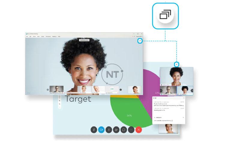 Trong một cuộc họp hoặc sự kiện trên Webex, có ba chế độ hiển thị video và nội dung tài liệu được chia sẻ chuyển đổi khác nhau