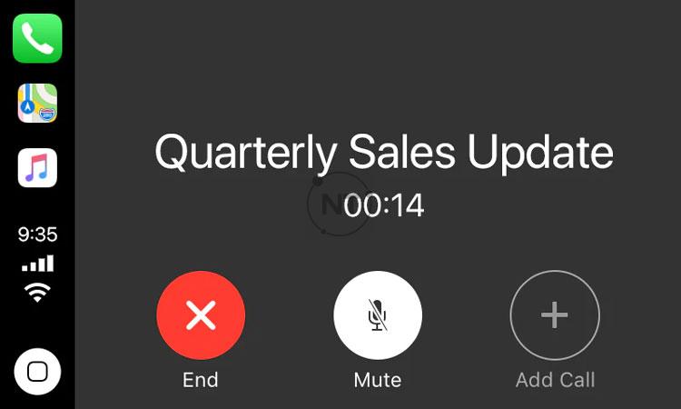 Tham gia cuộc gọi, cuộc họp trên Webex Meetings bằng Apple CarPlay