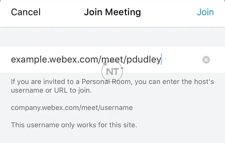 tham gia cuộc họp Webex từ thiết bị iOS