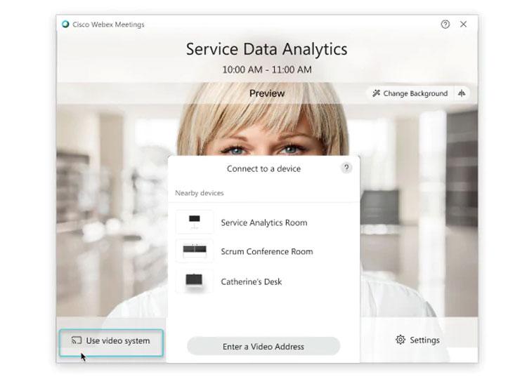 kết nối hệ thống video với Webex Desktop App (dành cho phiên bản cũ)