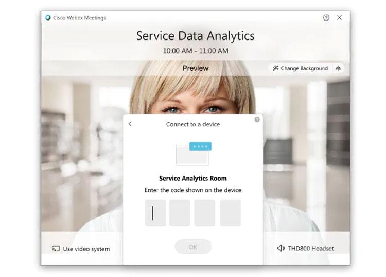 Hướng dẫn chi tiết cách kết nối hệ thống video với Webex Desktop App