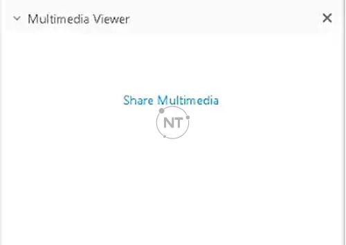sử dụng bảng điều khiển Multimedia Viewer để chia sẻ các trang web
