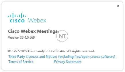 Cách xác định số phiên bản của Cisco Webex trong một cuộc họp, phiên họp hoặc sự kiện