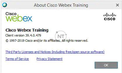 các hướng dẫn chi tiết về cách xác định số phiên bản của trang Cisco Webex Meeting của bạn.