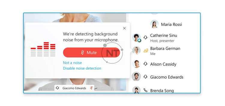 ứng dụng Cuộc họp Webex phát hiện thấy tiếng ồn xung quanh phát ra từ micrô của bạn