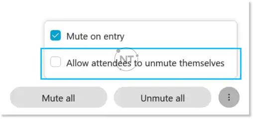 sử dụng chức năng tắt tiếng và bật tiếng để ngăn chặn tiếng ồn không mong muốn trong cuộc họp, sự kiện hoặc buổi đào tạo