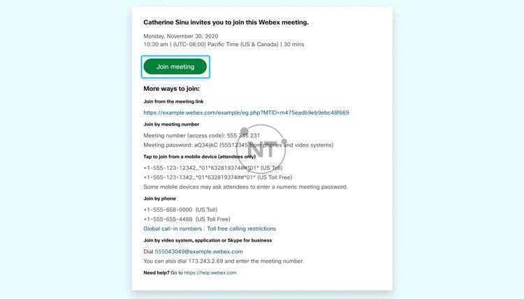 Hướng dẫn tham gia Webex Meetings