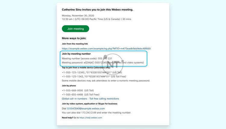 Hướng dẫn cách tham gia Webex Meetings
