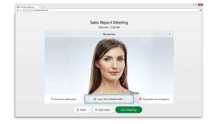 Trong cửa sổ xem trước, bạn có thể kiểm tra chất lượng âm thanh và video trước khi tham gia cuộc họp. Đầu tiên, hãy tùy chỉnh cài đặt âm thanh