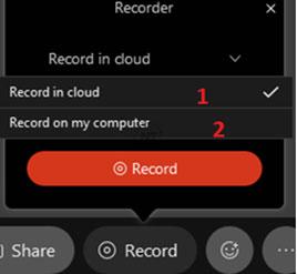Webex Meetings cho phép bạn ghi lại những gì có trong cuộc họp.