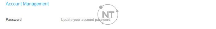 Chủ tài khoản có thể thay đổi mật khẩu tài khoản cá nhân trên Webex Meetings