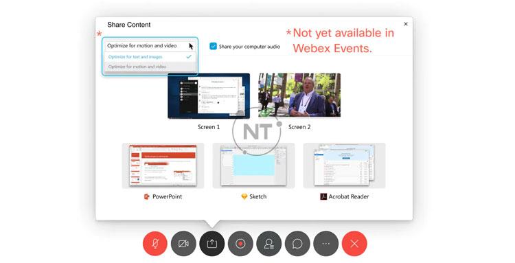 Cách tối ưu hóa video và hình ảnh động trên Webex Meetings (dành cho phiên bản cũ)