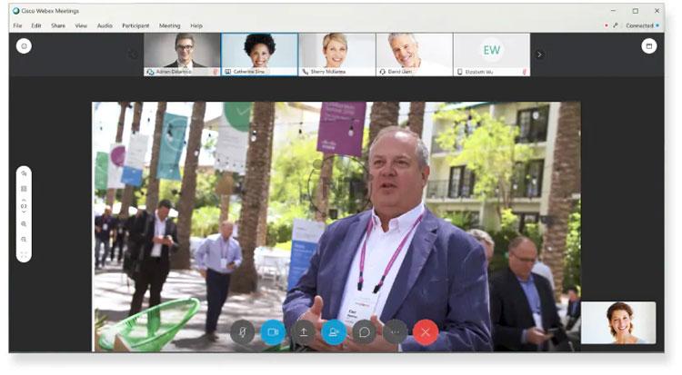 tối ưu hóa video và hình ảnh động trên Webex Meetings