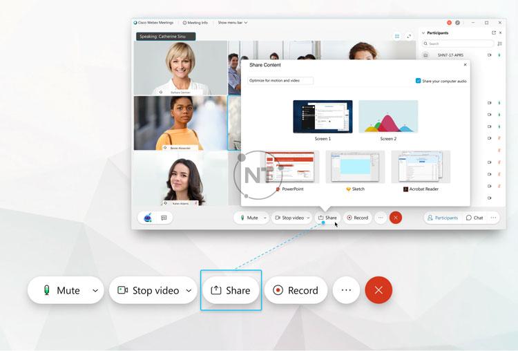 tối ưu hóa video và hình ảnh động trên Webex Meetings (dành cho phiên bản mới)