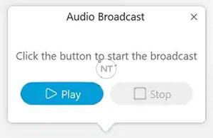 tính năng truyền phát âm thanh (Audio Broadcast) cho 1 sự kiện trên Cisco Webex Events.