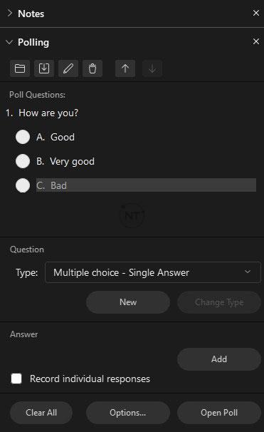 Tính năng khảo sát của webex meetings